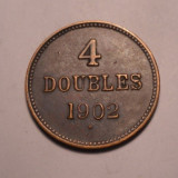 4 doubles 1902 H Guernesey, Europa