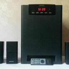 Sistem Audio 5.1 Format Din Subwoofer Microlab X15 + Sateliti Microlab X4 - Sistem Home Cinema, 40-300 W