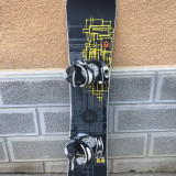Placa snowboard NIDECKER THE TARGET YELLOW 158cm cu legaturi ATOMIC - Placi snowboard