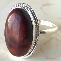 Inel argint 925 cu Ochi de Tigru Roșu, mărime 7, 5