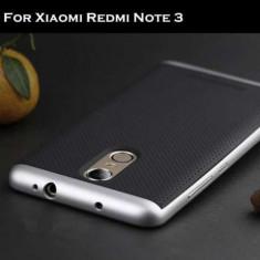 NOI Husa Hybrid + bumper IPAKY Xiaomi Redmi Note 3 / Pro, folie stica, protectie - Husa Telefon Xiaomi, Negru