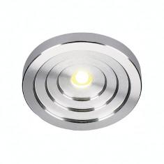 Spot LED KONKAV, aluminiu, lumina rece