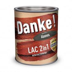 Lac colorat pentru lemn Danke 2 in 1 Abanos 0.75l