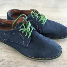 Pantofi barbatesti piele intoarsa Ben Sherman marime 42 - Pantofi barbati