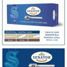 2.000 tuburi de tigari SENATOR Blue - Multifiltru Carbon pentru injectat tutun - Foite tigari