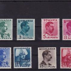 Timbre Romania, Nestampilat - ROMANIA 1940, LP 140, CAROL II CULORI SCHIMBATE, MNH, LOT 1 RO