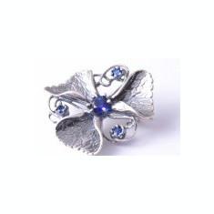 Brose argint cu pietre semipretioase online - Brosa argint