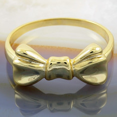 Inel Placat cu Aur 18K, model funda, cod 930 - Inel placate cu aur