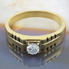 Inel Placat cu Aur 18K, cu Zirconiu, cod 935 - Inel placate cu aur