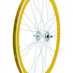 Set Roti Fixie700, culoare galben, spite 9x4 PB Cod Produs: 40706GSSKRM