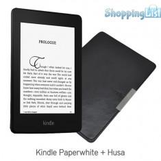 Kindle Paperwhite, generatia 2015 (300 ppi) + 4000 carti cadou + Husa slim - eBook Reader Kindle Paperwhite Amazon