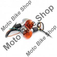 Set lampi semnalizare-negru PP Cod Produs: MBS031105 - Semnalizatoare Moto