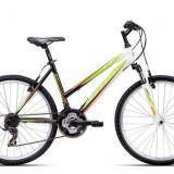 "Bicicleta dama CTM Stefi 2.0, 2016, cadru 18"", negru / verde PB Cod Produs: 037.55"
