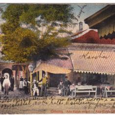 Ada Kaleh ANIMATA apr 1915 circulata dupa 1918 cu timbre romanesti FOARTE RARA - Carte Postala Banat 1904-1918, Printata