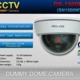 Camera video de supraveghere falsa Dummy cu led