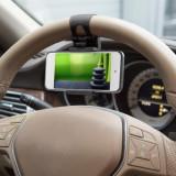 Suport telefon pentru volan, negru