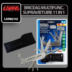 Briceag/Cutit vanatoare - Briceag multifunctional kit supravietuire 11 in 1 - CRD-LAM66142
