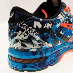 Adidasi barbati - Pantofi Alergare, Asics, Gel-Noosa TRI 11, Speed Island, Albastru-Portocaliu-Negru, Barbati-41.5 - OLN-OL10-T626N.4006|41.5