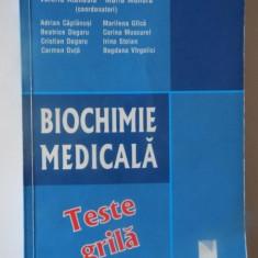BIOCHIMIE MEDICALA, TESTE GRILA de VALERIU ATANASIU si MARIA MOHORA, BUCURESTI 2010