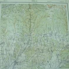 Targu Jiu Gorj Oltenia harta militara color - Harta Romaniei