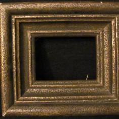 GE - Rama veche din lemn pentru tablou ori fotografie mica (4) - Rama Tablou, Decupaj: Dreptunghiular