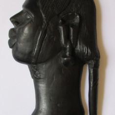 FEMEIE DIN AFRICA-aplica-sculptura in lemn-arta africana, vintage - Arta din Africa