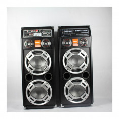 Set 2 boxe active cu USB si slot SD pentru Karaoke Temeisheng DP-2304 - Boxa activa