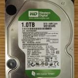 HDD PC Western Digital 1TB Sata WD10EARS 64MB Cache - Hard Disk Western Digital, 1-1.9 TB, Rotatii: 7200, SATA2