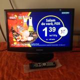 TV LCD 19 INCH SAMSUNG + TELECOMANDA NOUA IN TIPLA - Televizor LCD Samsung, 22 inchi (56 cm), HD Ready, HDMI, Slot CI, USB