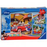 Puzzle Clubul Mickey Mouse 3 x 49 Piese Ravensburger