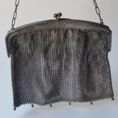 Poseta vintage din plasa metalica - Geanta vintage