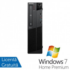 Lenovo Thinkcentre M92p SFF, Intel Core i5-3550 Gen 3, 3.3Ghz, 4Gb DDR3, 500Gb HDD, DVD-RW + Windows 7 Home Premium - Sisteme desktop fara monitor