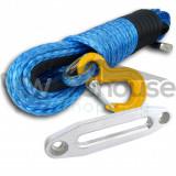 Cablu sintetic troliu  26m x 10mm + Ghidaj  Plasma Off-Road * 8200 KG Testat