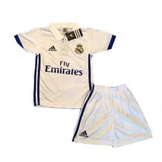 Tricou+Sort(Set) Copii Adidas Real Madrid Acasa Sezon 2016/17(NR 7 Ronaldo), Marime: YXS, YL, Culoare: Alb, Mov