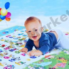 Covor de joaca pentru copii, interior si exterior, doua fete 120 x 180 x 0, 5 cm - Jucarie interactiva