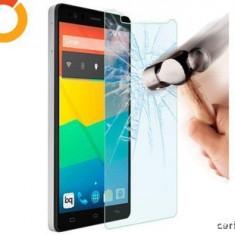 FOLIE STICLA SECURIZATA ASUS ZENFONE 5 (5inch) TEMPERED GLASS - Husa Telefon HTC, Alcatel Pop C7, Albastru, Piele Ecologica, Cu clapeta, Husa