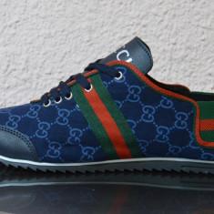 Adidasi barbati Gucci, Textil - Adidasi Tenisi Gucci cu bareta elastica la glezna ! LIVRARE GRATUITA