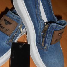 Pantofi dama - {PANTOFI SPORTJEANS, FERMOARE METALICE IMPORT ITALIA-EDITIE LIMITATA