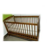 Patut lemn pentru bebelusi, 140x70cm - Patut din lemn masiv
