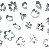 Set 20 forme inox diferite pentru patiserie