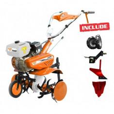 Motocultor - Motosapa Benzina Ruris 7099 7 Cp + Roti Cauciuc + Plug + Rarita + Adaptor Plug