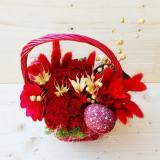 Suport flori - Aranjament cos nuiele rosu