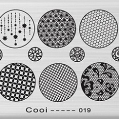 Unghii modele - Matrita metalica pentru unghii Placuta medie Model Cooi 019