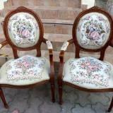 ..DEOSEBITE!...Superb set de 2 fotolii in stilul Rokoko cu tapiserie goblen - Mobilier