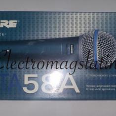 Microfon Shure Incorporated Profesional Shure Beta 58 cu fir, modelul cu intrerupator