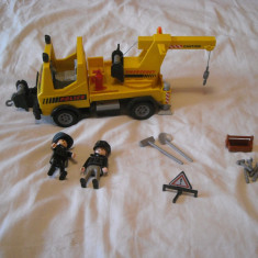 Playmobil City 5270 - Masina de ridicat masini a politiei americane - Masinuta de jucarie Playmobil, Plastic