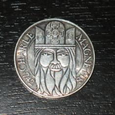 Moneda argint 100 franci Franta 1990, stare buna, Europa