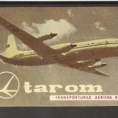 Calendar de buzunar TAROM, ANUL 1961 - Calendar colectie