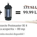Aparat anti insecte cu lampa UV - Pestmaster IK 4(OFERTA DE SEZON 2 bucati la 99.99 RON)