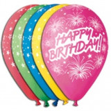 Baloane Happy birthday (cu artificii)